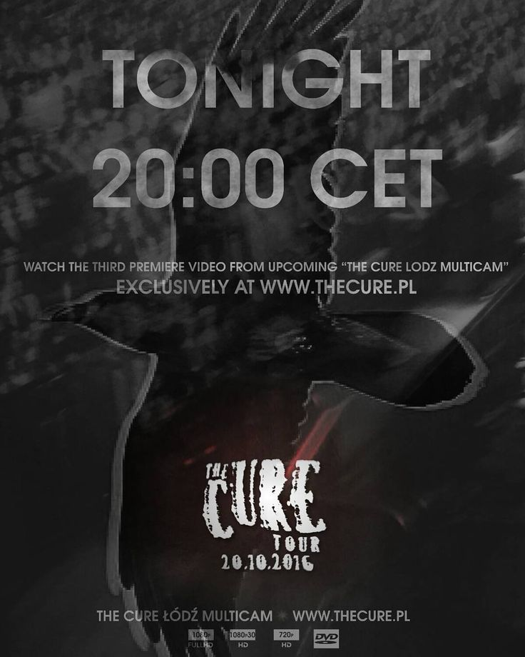 "Watch the third video from upcoming ""The Cure Lodz Multicam"" Tonight at 8pm CET. This multicam is a non-profit fan film project and will be available to download for free from 20 October. #TheCure #Lodz #Multicam #free #fan #film #project #thecuretour2016 #RobertSmith #rock #pop #indie #goth #alternative #postpunk #80s #90s #music #instamusic #łódź #atlasarena #concert #koncert #live #download @thecure @mylifelookslikethis  @reveesgabrels @robertsmith @thecure.official @thecure.com.ar…"
