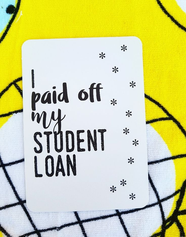 I paid off my student loan. Celebrate life! Share your journey! Cards for your 30s