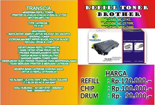 REFILL TONER BROTHER TN 2130 HUBUNGI HUSNUL 02193715757