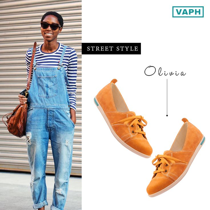 No fuss. Style smart.   Style: OLIVIA  Color: Yellow   Make: An upbeat sporty twist to the elegant oxfords. Made with suede leather, intelligently designed with memory foam cushioned leather insoles and an off-white anti-skid TPR sole.   In the picture: A stunning internet find. Smitten by her style and attitude in those denim suspenders.