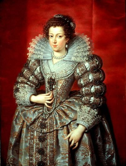 Pourbus, Frans the Younger - Elisabeth of France, Queen of Spain, eldest daughter of King Henry IV. of France and Maria de Medici, first Wife of King Philip IV of Spain - Baroque - Portrait - Oil on canvas