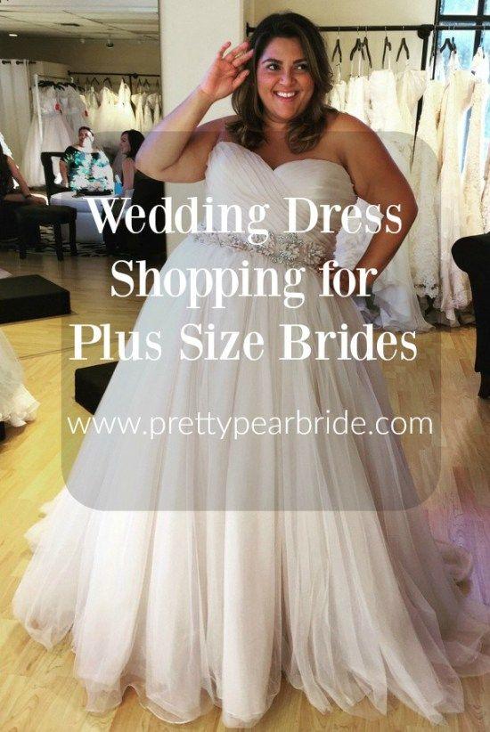 Wedding Dress Shopping for Plus Size Brides | Pretty Pear Bride