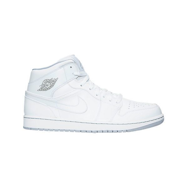 Nike Men's Air Jordan Retro 1 Mid Retro Basketball Shoes ($85) ❤ liked on Polyvore featuring men's fashion, men's shoes, white, mens shoes, mens white shoes, mens leopard print shoes, nike mens shoes and mens retro shoes