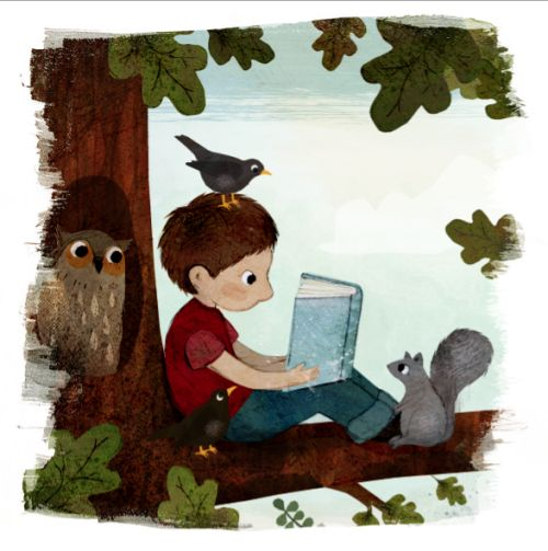 Yo, mi libro y mis animales: placeres del verano (ilustración de Frann…  #biblioteques_UVEG