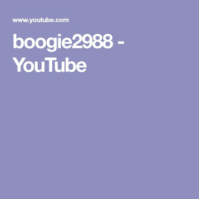 boogie2988 - YouTube