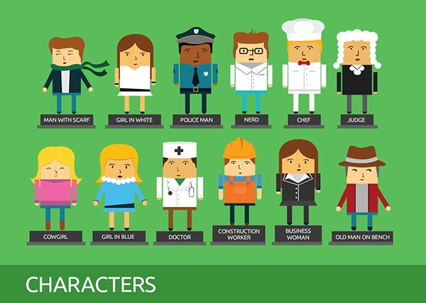 12 Free Characters on Behance