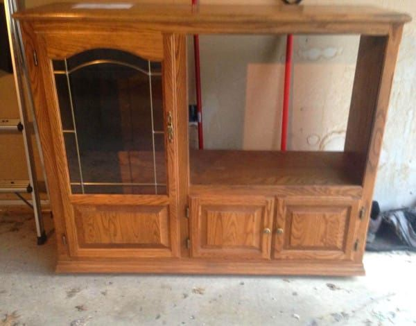 It Was Just An Old TV Cabinet, Until Parents Transform It Into A Kitchen For Their Little Boy