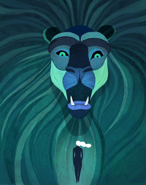Comics&Cola: Juliette Oberndorfer's gorgeous 'The woman and the lion' illustration series