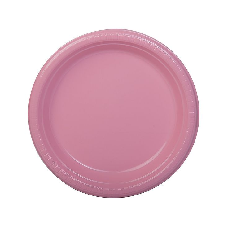 Light+Pink+Dinner+Plates+-+OrientalTrading.com