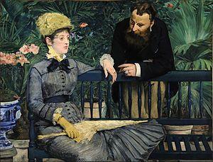 Manet, Nel conservatorio, 1878-79, olio su tela, Alte Nationalgalerie, Berlin