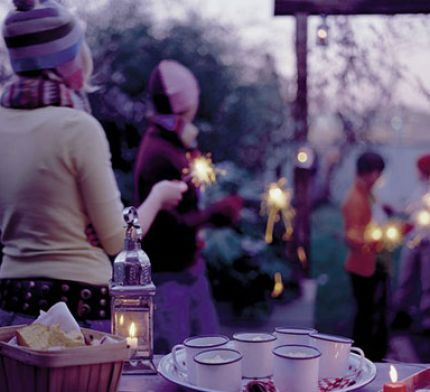 We could have a campfire outside and sparklers- make the most of the cold weather
