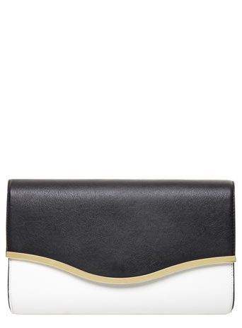Black and white clutch 15