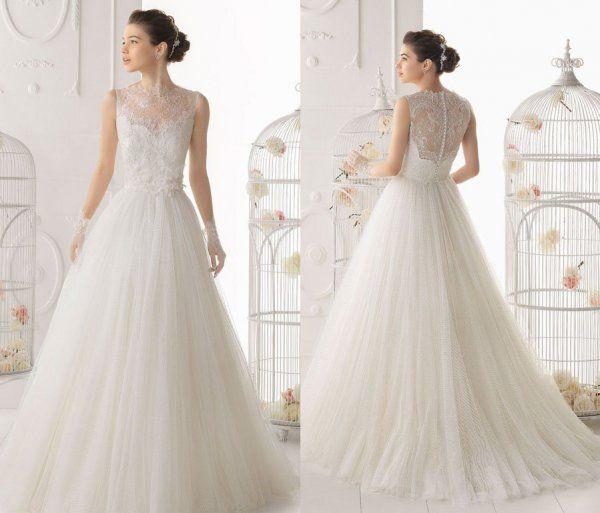Suknia ślubna ze śliczną koronkową górą! Jak Wam się podoba