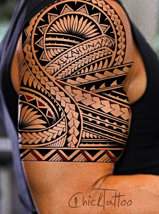 polynesian tattoos | Specializing in Polynesian Style Tattoo Designs by ChickTattoo: