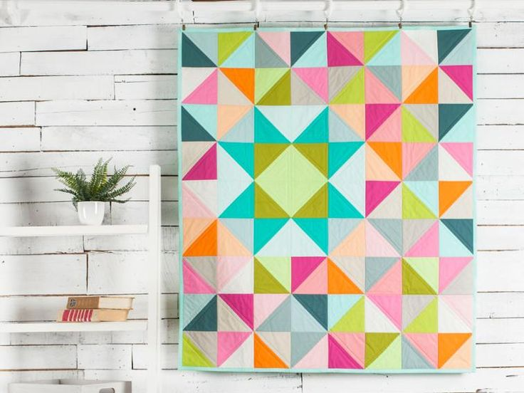 Home Town Call Me Contemporary Mixer Quilt Kit | Craftsy - love this pattern  great use of solids