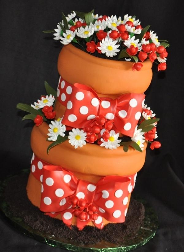 Bloempot taart