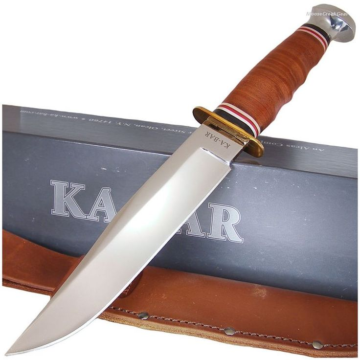 Ka-Bar 1236 Full Size Stackled Leather Handle Bowie Knife   MooseCreekGear.com   Outdoor Gear — Worldwide Delivery!   Pocket Knives - Fixed Blade Knives - Folding Knives - Survival Gear - Tactical Gear