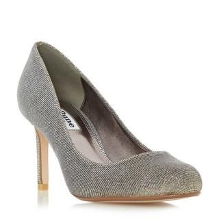 This smart round toe court shoe makes an elegant addition to your wardrobe. This minimalist slip on style features a slim mid heel and neat round toe. Wear with a tailored tunic dress and blazer for effortless style.