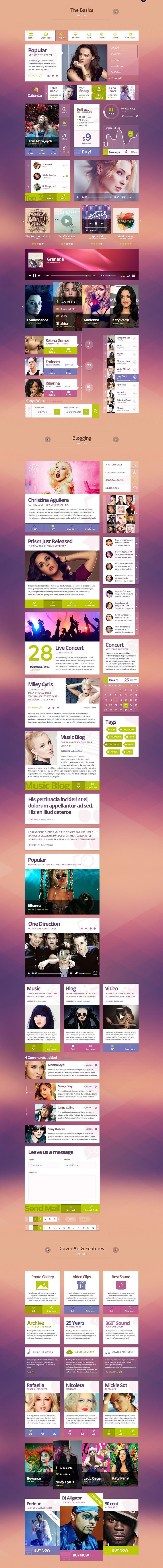 Funky Tunes UI Kit #graphics #web #design