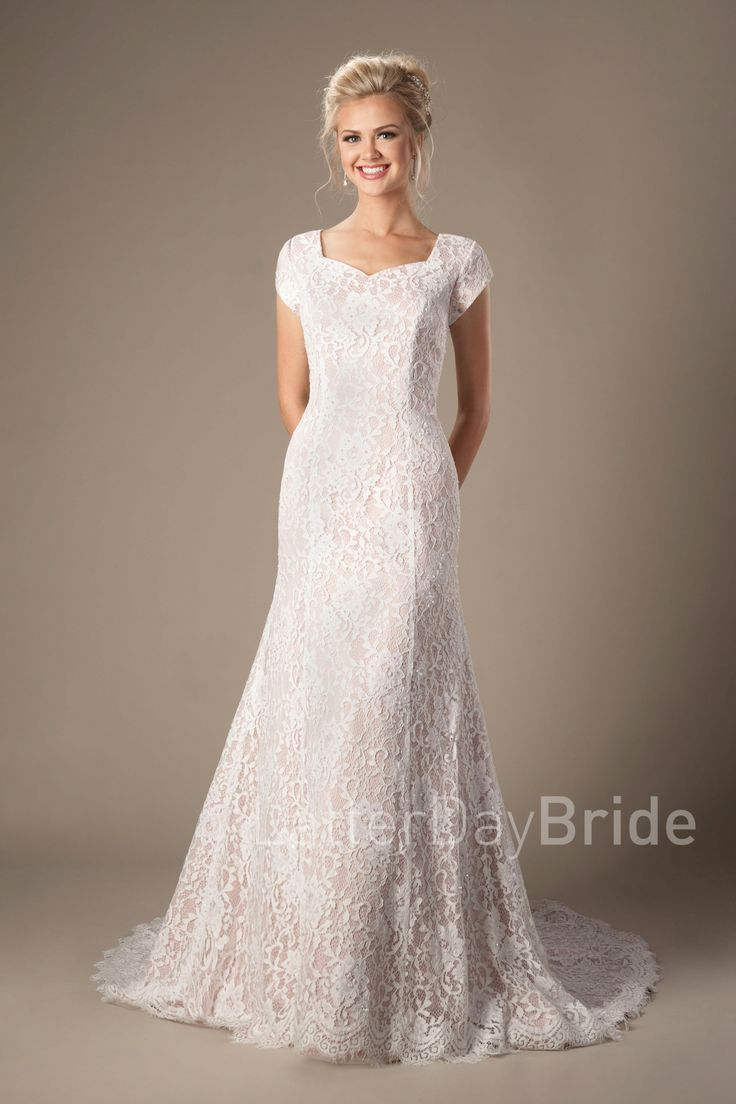 Bellamy lds modest wedding dress worldwide shipping for Mormon modest wedding dresses