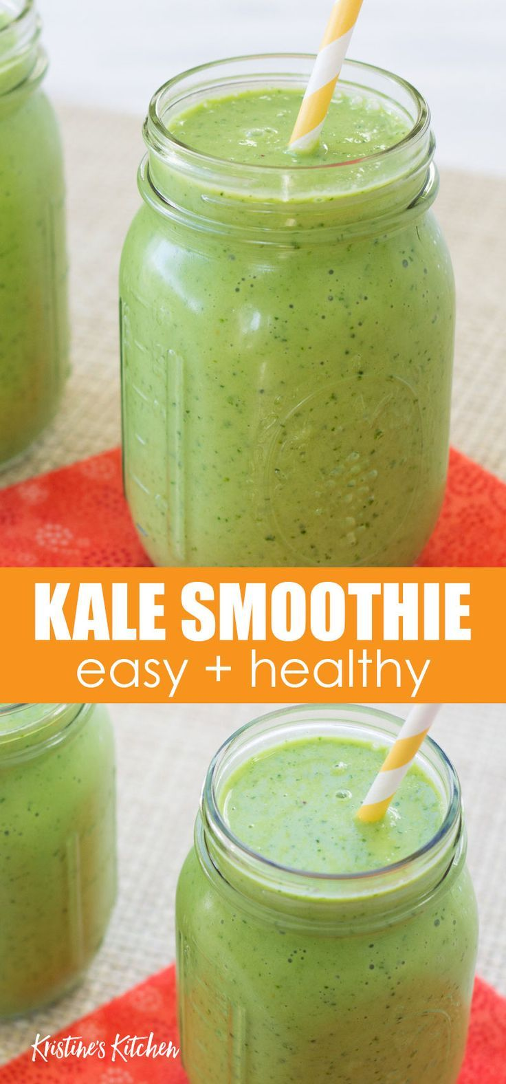 This healthy kale smoothie is full of protein and fiber