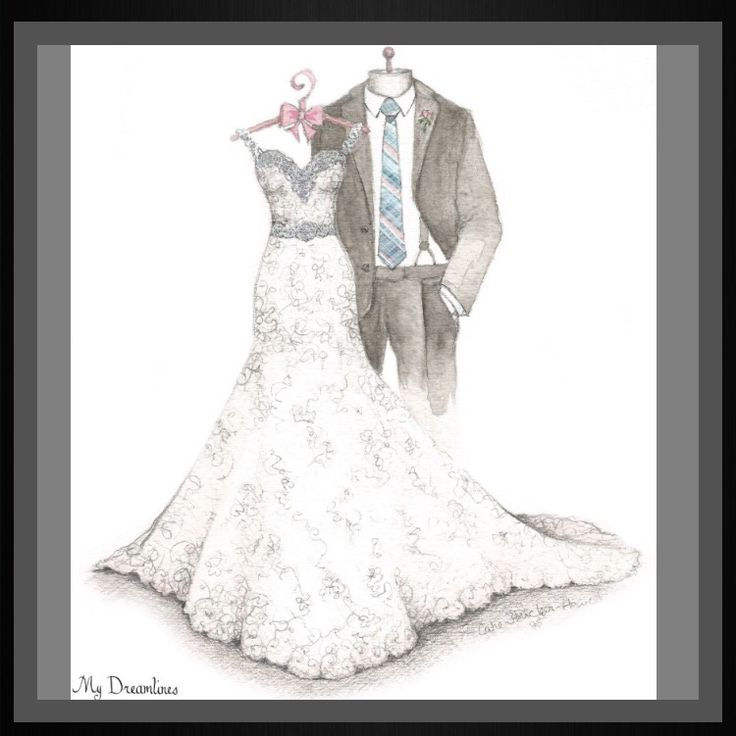 Perfect gift. Christmas Gift. Christmas Gift For Wife. Gift For Wife. Anniversary Gift. Bridal Shower Gift. Wedding gift from groom to bride, bride gift, gift from groom, gift from groom to bride, wedding day gift, wedding day gift for bride, wedding day gift from groom. #christmasgiftwife #giftforwife http://www.mydreamlines.com/how-it-works/photo-gallery/ Wedding Dress Sketch with suit, bouquet and frame. #weddingdresssketch