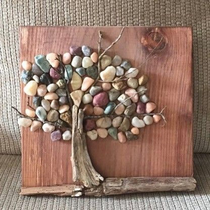 """13 Likes, 1 Comments - Shannon Lambe (@the.crazy.krafters) on Instagram: """"New pebble wall art going into our shop tomorrow! #pebbles #pebbleart #treeoflife #treeart…"""""""