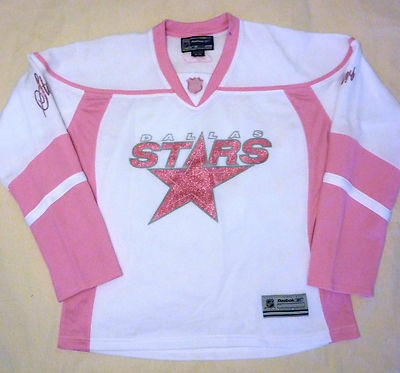 $20.93 Cute pink Dallas Stars Womens hockey jersey! Bring back hockey! Size medium.