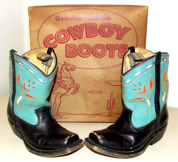 Genuine Western Cowboy  Boots Turquoise Blue by honeyblossomstudio, $275.00