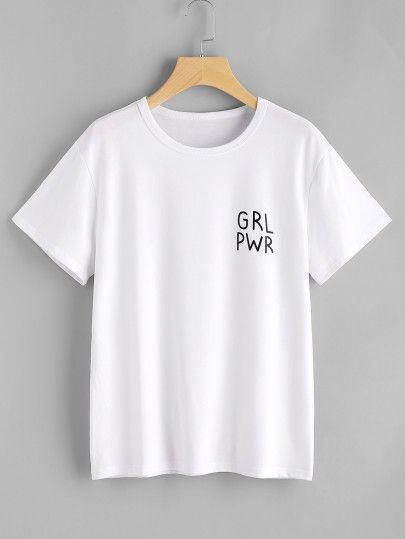 Camiseta estampada de letras