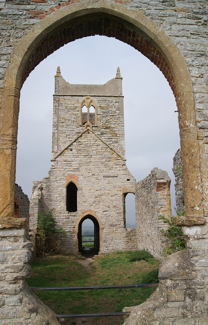 The medieval church dedicated to St Michael on top of Burrow Mump by Twoshoes3, via Flickr