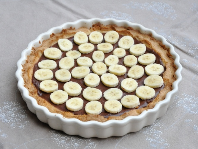 Crostata senza glutine alla nutella e banane - Gluten free tart with nutella and bananas
