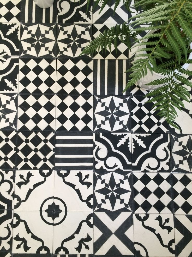 Pretty patterned tile. 17 Best ideas about Black And White Tiles on Pinterest   Black and