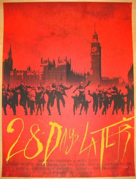 "2011 ""28 Days Later"" - Silkscreen Movie Poster by Charlie Adlard"