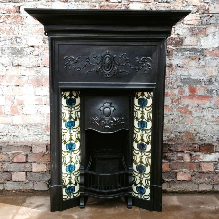 Edwardian cast iron fireplace for sale on SalvoWEB from Architectural Forum in London [Salvo code #salvo