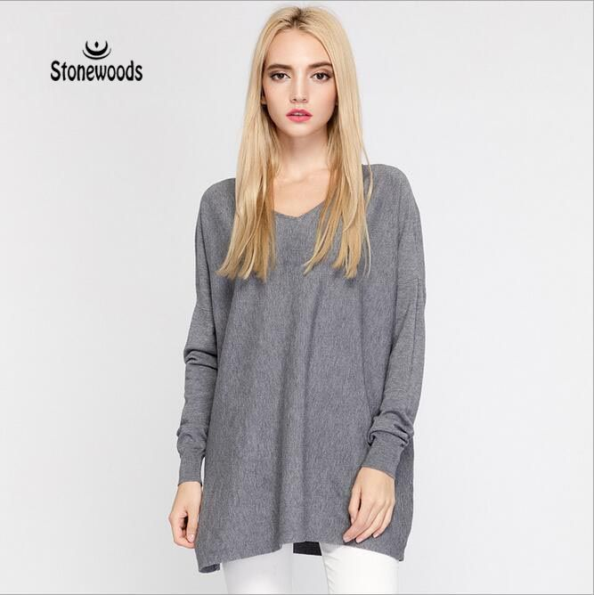 Winter Sweater Unif Women Sweaters And Pullovers V-Neck Relaxed Fit Pullover  Cardigans Womens Knitted 597a8fbfc