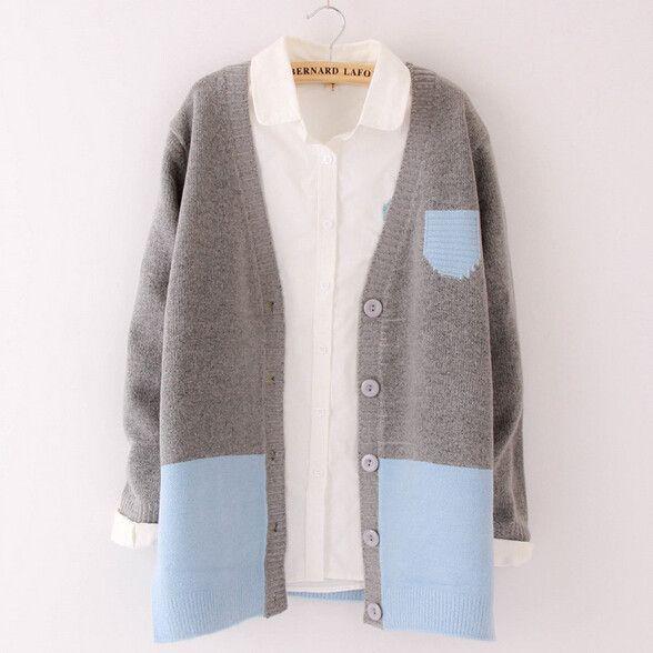 Sweet cute sweater coat