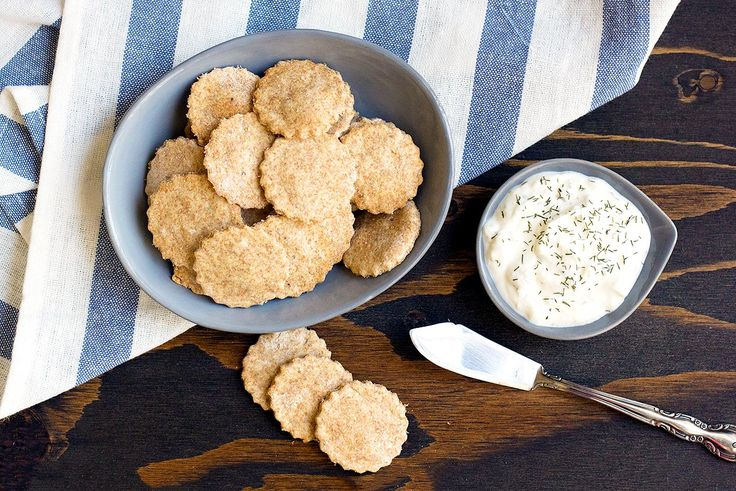 Whole Wheat and Brown Rice Crackers  Recipe | MyFoodDiary.com