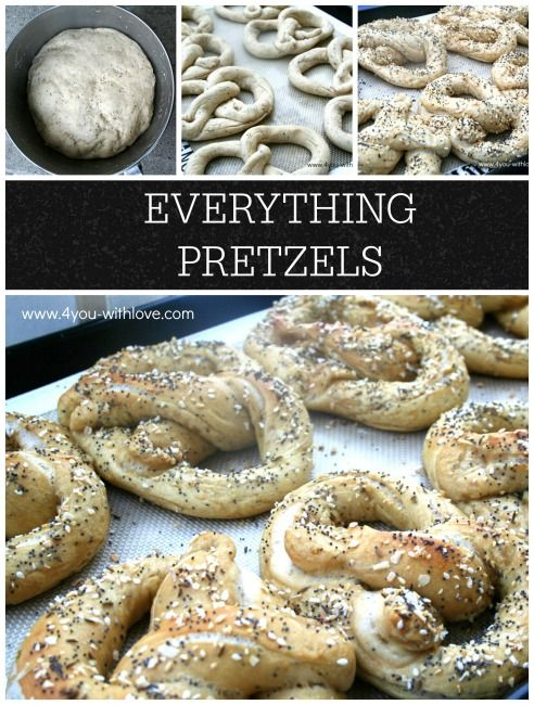 Make your own Everything Pretzels with this easy recipe. Your family will LOVE these and you can freeze any extras for later!