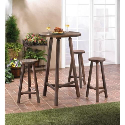 wood bar table u0026 bar stools set entertain in style with this lovely wooden high