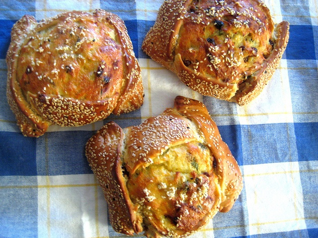 Easter Flaounes (cheese bread)