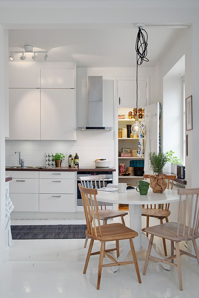 Simple Scandinavian kitchen via Alvhem.