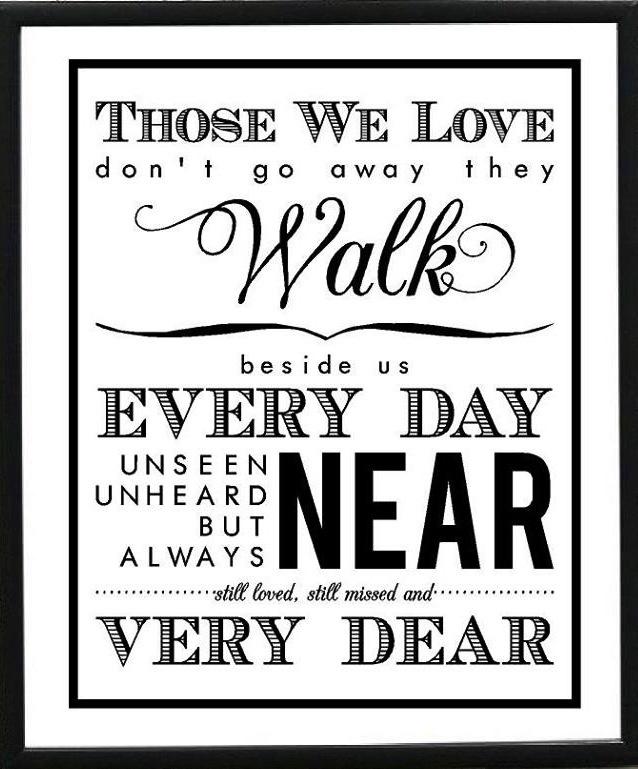 Those we love quote via