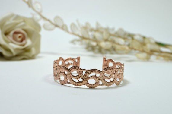 Rose gold filigree bracelet Cuff bracelet Rose gold by MyElesi