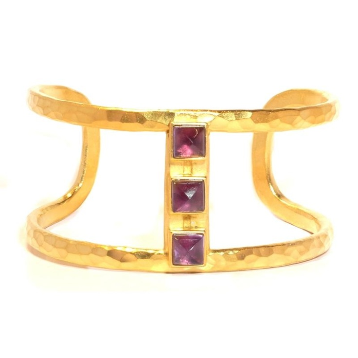 Evelyn Knight Amethyst Cuff