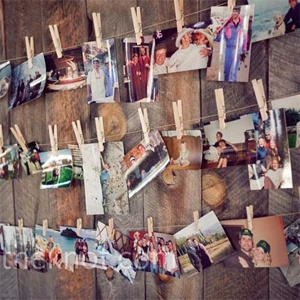 rustic wedding photo wall...perfect for a barn/country wedding