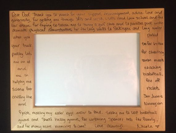 Custom Engraved Frame with Actual Handwriting  Mother of the