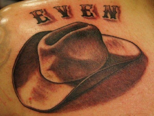 Cowboy Hat Back Tattoo