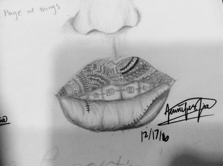 Inspired by another drawing Lips sketch with braces