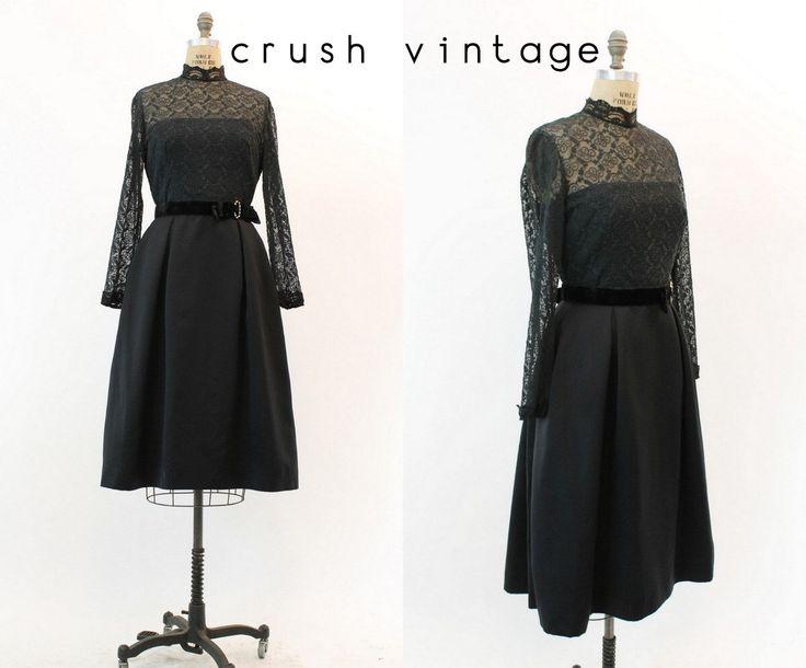50s Lace Dress Small / 1950s Vintage Little Black Cocktail Dress / Hartford Party Dress by CrushVintage on Etsy https://www.etsy.com/listing/261335057/50s-lace-dress-small-1950s-vintage